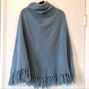 Jackets & Blazers - Baby Blue Poncho